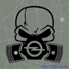 Totenkopf Skull Ventil Aufkleber für OPEL Astra Sticker Tattoo Autoaufkleber