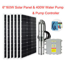 12v Submersible Deep Well Water Pump & 160w Solar Panel 15a Charge Controller