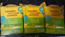 Alba Botanica Hawaiian Towelettes 3-In-1 - (30 wet) TOWELETTES Each Pack Of 3