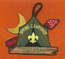 SCOUT BSA SPRING CAMPOREE ODD SHAPE PATCH OA ARROW TWIN VALLEY COUNCIL MINNESOTA
