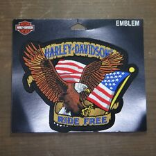 Harley Davidson Authentic Patch - Patriotic Eagle - Medium Emblem Badge