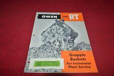 Owen RT Grapple Buckets Dealer's Brochure YABE18