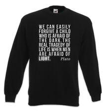 Plato Afraid Of Sweatshirt Pullover Philosoph Zitat Erleuchtung Licht