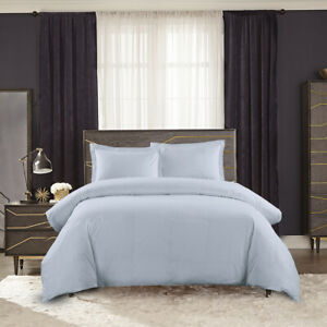 Soft Percale Egyptian Cotton 300 Thread Count Duvet Cover Set