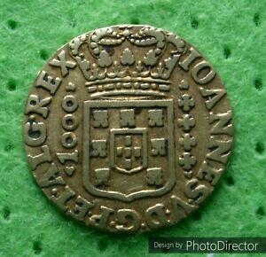 BRAZIL Gold 1000 Reis 1716 B rar Original