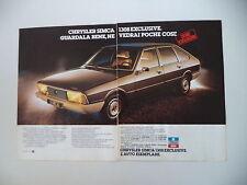 advertising Pubblicità 1978 CHRYSLER SIMCA 1308 EXCLUSIVE