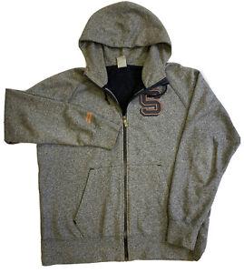 Nike Syracuse University Fleece Hoodie Top. Grey. Large.