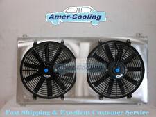 Shroud Fan For GMC Sierra Chevy Silverado 1500 2500 3500 HD Aluminium Radiator