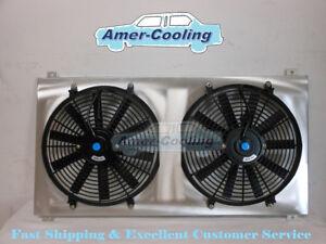 Aluminum Radiator Shroud + Fan For GMC Sierra 1500 2500 3500 HD Yukon Hummer H2