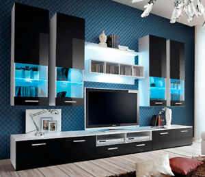 Montreal 2 - modern TV Wall Unit / entertainment center cabinet / tv stand