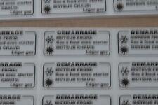 1 Autocollant DEMARRAGE à FROID Peugeot 103 mvl sp RCX SPX CLIP COBRA