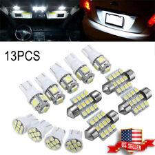 13X Set Car White LED Light Interior Package T10 Festoon Map Dome License Plate