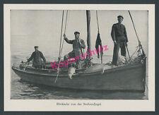 Borkum Nordsee Friesen Seehundjäger Fang Robben Segelboot Marine Seefahrt 1913