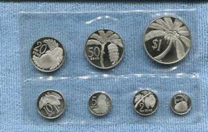 1974 Samoa STERLING Silver Proof Coin Set INC Case  U-251