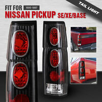 For 95-97 Nissan Pickup 86-94 Hardbody D21 Tail Lights Black Clear Altezza Style
