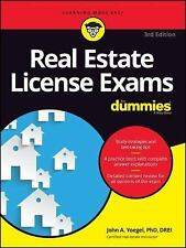 Real Estate Books - Business Book - License Exams For Dummies 3rd Edition