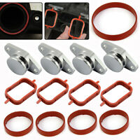 4X Swirl Flap Blanks Repair Kit 33 mm Manifold with Gaskets for BMW 320d 330d UK