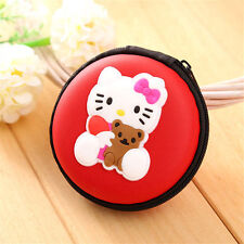 HELLO KITTY RED EARPHONE CASE PURSE COIN HOLDER HEARING AID UK SELLER!!