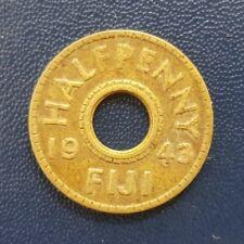 Fiji - 1943 Half Penny Brass (KM#14a) King George VI