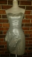 CUE Silver Strapless DRESS Size 6