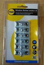 YALE P-6P112-SC-6  Window Screw Locks (Pack of 6) NEW & Sealed - FREE P&P
