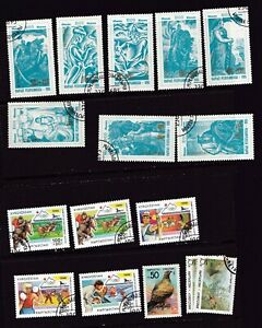 Lot of 24 Misc MNH and Used Stamps from Kyrgyzstan Nice Mix Shown in 2 Pics