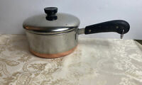 Revere Ware Copper Clad 2 Qt. Sauce Pan With Lid Pre 1968 Process Patent USA