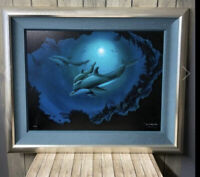 Robert WYLAND - Dolphin Sea - Signed Numbered LE Giclee 160 of 750 Value -3995