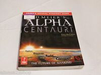 Sid Meier's Alpha Centauri Prima's official strategy guide for game strat RARE