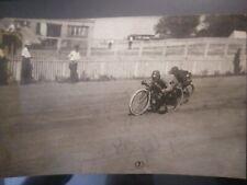 INDIAN MOTORCYCLE 1914 RACING PHOTO HARLEY DAVIDSON AMERICAN RARE OLD