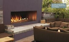 """Carol Rose Outdoor 60"""" Stainless Steel Manual Ignition Linear Fireplace Propane"""