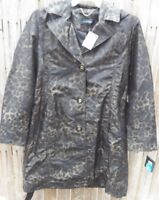 Women's New Ellen Tracy Size XL  Water Repellent Rain Jacket Trench Coat w Hood