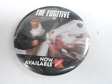 VINTAGE PROMO PINBACK BUTTON #96-009 - THE FUGITIVE - NOW AVAILABLE AT KMART