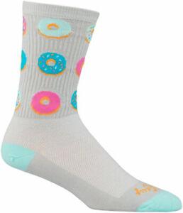 SockGuy Glazed Crew Socks   5 inch   Gray   L/XL