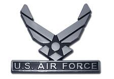 air force wings logo chrome auto car emblem usa made