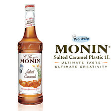 MONIN Coffee Syrups - SALTED CARAMEL - 1L Plastic Bottle - USED BY COSTA COFFEE
