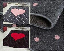 Bellissimo tappeto per bambini, rettangolare / rotondo, altezza 7 mm, a cuore,