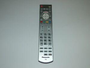 Panasonic N2QAYB001012 TV Remote Control Genuine Original for TX-65C802B Silver
