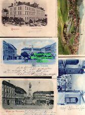 119404 4 AK Passau Landungsplatz 1898 Rathaus 1897 Dom Dampfer Brücke 1898