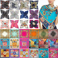 Women Floral Paint Printed Satin Scarf Square Silk Scarve Shawl Large Wraps Lot