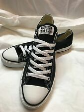 Men's black and white ox converse size 9