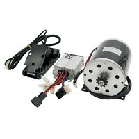 48V 1000W DC Electric Motor Kit w/ Base Speed Controller & Foot Pedal Throttle#