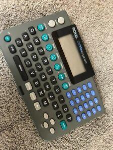 Vintage Royal DM70nx Electronic Organizer Grey Handheld Calculator