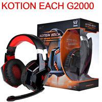 KOTION EACH G2000 Over-ear Gaming Headset Headband Headphone Earphone With Mic