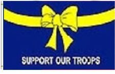 Military Yellow Ribbon Support Our Troops 3x5 Banner Flag Super Polyester