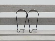 50 Pcs 316L Stainless Steel Ear Wire Earring Oval Hoop French Hook 25mm Jewelry