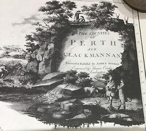Perth & Clackmannan 1783 9 map set by Stobie. Repro.1996