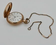 1888 Elgin Model 3, Grade 82, 18s, 15j, Solid 14k Gold Pocket Watch Hunter 3.8oz
