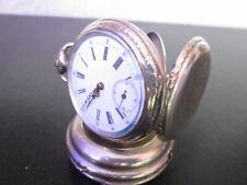 Antike Taschenuhr Remontoir Cylindre 10 Rubis Silber 800 Halbmond,Krone, ENGEL