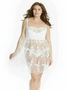 Embroidered Tulle Bridal Babydoll